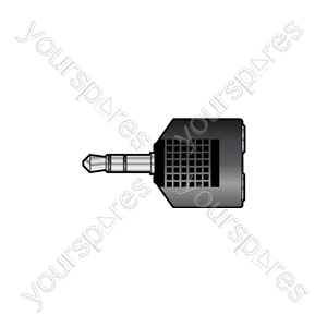 3.5mm Stereo Jack Plug to 2 x 3.5mm Stereo Jack Sockets - Plug-2x3.5 Skt