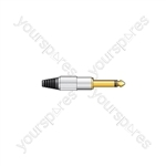 6.3mm Jack Plugs - Gold plated plug, aluminium cover- mono