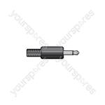 3.5mm mono plug, plastic