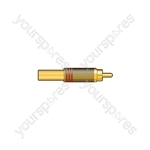 Gold plated RCA plug, Red