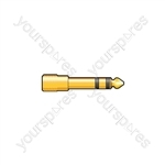 6.3mm Stereo Jack Plug to 3.5mm Stereo Jack Socket - WE11108 Adaptor - Gold plated