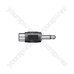 WE1193 Adaptor 3.5mm mono plug to RCA socket