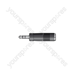 3.5mm Stereo Jack Plug to 6.3mm Stereo Jack Socket - WE1188A Adaptor