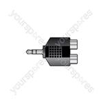 3.5mm Plug - 2 Phono Skt