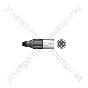 3-pin XLR Connectors - plug, short