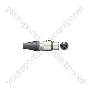 Neutrik® NC3FXX 3-pole XLR Line Connector - Socket, Bulk