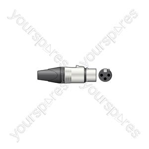 Neutrik® NC3FXX - 3-pole XLR Line Socket, Bulk