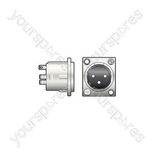 Neutrik® NC3MD-LX - NEUTRIK®, 3pin XLR chassis plug solder terminals - NC3MD-L-1