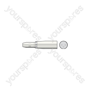 3-pin XLR Male to 6.3mm Stereo Jack Socket - Plug