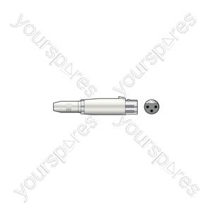 3-pin XLR Female to 6.3mm Mono Jack Socket