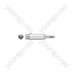 3-pin XLR Female to 6.3mm Stereo Jack Plug - Socket