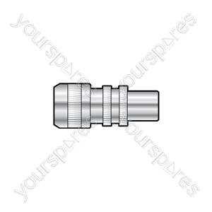 Precision Aluminium Coaxial Plug - Bulk Packed