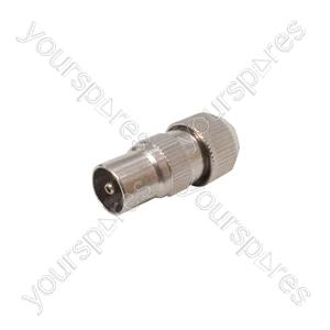 Precision Coaxial Plug - Nickel Plated Brass - bulk