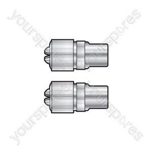 Precision Coaxial Plug - Nickel Plated Brass - 2pcs