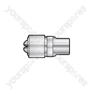 Nickel plated precision coaxial plug