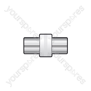 Coaxial coupler plug to plug