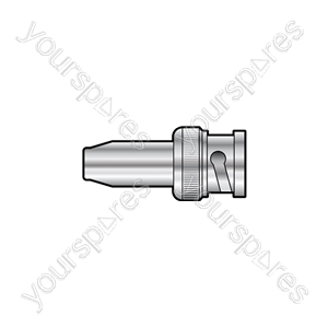 BNC plug for RG6 cable crimp