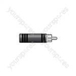 WE1198 Adaptor RCA plug to 6.3mm mono socket