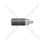 WE1197 Adaptor RCA plug to 3.5mm mono socket