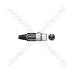 3-pin XLR Connectors - socket, short