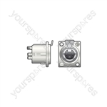 Neutrik® NC3FDLX 3 Pin XLR Panel Socket - NC3FDX 3-pin chassis female - NC3FD-L-1