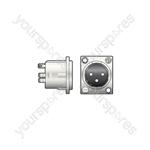NEUTRIK®, 3pin XLR chassis plug - solder terminals