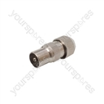Precision Coaxial Plug - Nickel Plated Brass - bulk
