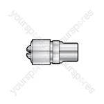 MA13BL Nickel plated precision coaxial plug - 2 per blister