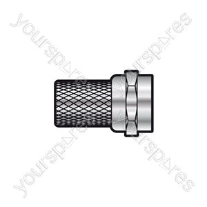 F connector twist on for RG58 cable