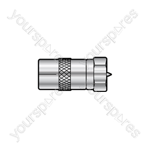 WE1723 Adaptor F plug to coax TV socket