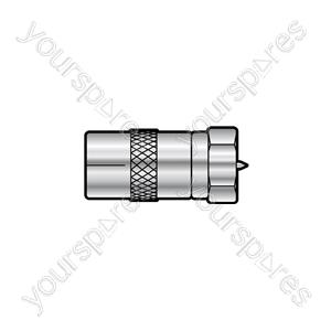 F-type Adaptor - WE1723 plug coax TV socket