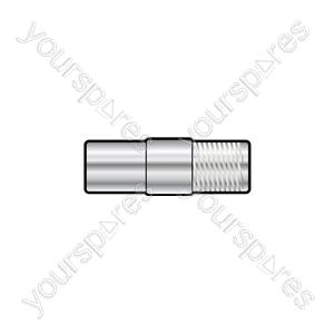 WE1722 Adaptor F socket to coax TV plug