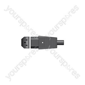 IEC In-line Socket C13 - 3-pin