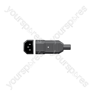 Shrouded 3-pin IEC plug