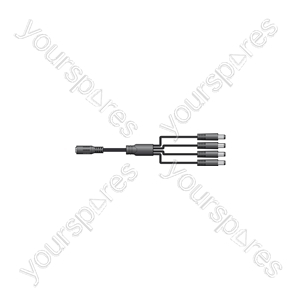 1 in 4 out 2.1mm DC jack splitter