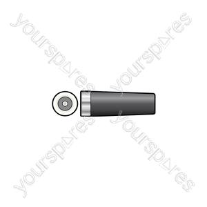 In-line DC socket, 2.1mmØ hole