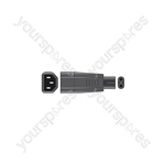IEC Plug to Fig.8 Plug Adaptor (C14 to C7)