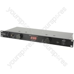 "CPD-9 - 19"" 8 Way IEC Power Distributor - 8-Way"