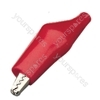 Insulated crocodile clip, 25mm, Red