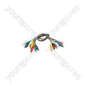Test Lead Set - 10 x set, 5 colours, 25mm clip