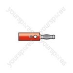 Male banana plug, Red