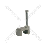 CF59G flat cable clips 5 x 9mm, grey - bag of 50