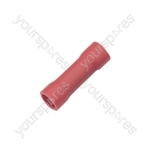 Crimp terminal, butt splice, 0.5 - 1.5mmØ cable, Red