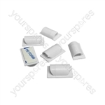 D-Line cable tidy clips - White pack of 6 - CTCLIPSA6W