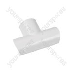 Clip-over trunking accessories - white Equal Tee 30x15mm Bag of 5 - FLET3015W-5PK