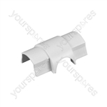 D-Line Smooth Fit adaptors - Cable Outlet 30x15mm Bag of 5 - CO3015W-5PK