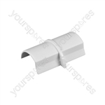 D-Line Smooth Fit adaptors 30x15 - Coupler 30x15mm Bag of - CP3015W-5PK