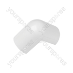 Clip-over trunking accessories - white External Bend 50x25mm Bag of 5 - FLEB5025W-5PK