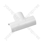 Clip-over trunking accessories - white Equal Tee 50x25mm Bag of 5 - FLET5025W-5PK