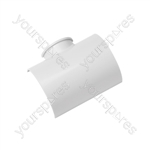 Clip-over trunking accessories - Adaptor Tee 50x25mm Bag of 5 - FLAT5025W-5PK